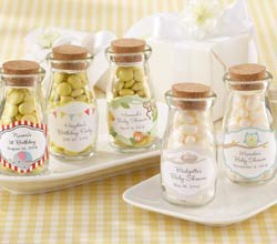 """Vintage"" Personalized Milk Bottle Favor Jar (Baby) (Set of 12)"